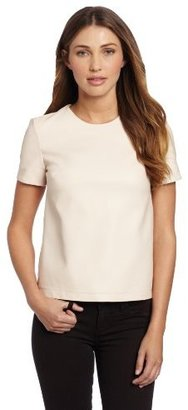 French Connection Women's Pleather Top
