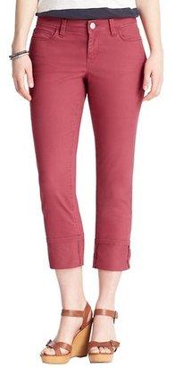 LOFT Curvy Straight Cuffed Cropped Jeans