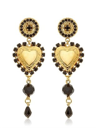 Dolce & Gabbana Heart Pendant Clip Earrings