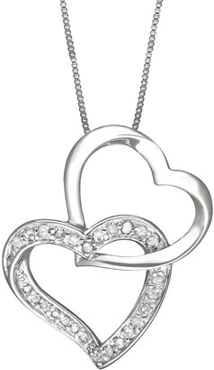 9cc6e4fa5 Two Hearts Forever One Sterling Silver 1/4-ct. T.W. Round-Cut