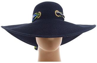 San Diego Hat Company FBL1006 Silk Scarf on Floppy Sun Hat