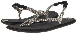 Sanuk Rasta Knotty (Black/Cream) - Footwear