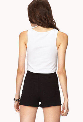 Forever 21 Coast To Coast Crop Top