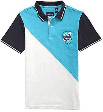 Class Club 8-20 Colorblock Pique Polo Shirt