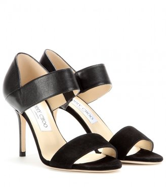Jimmy Choo Tesoro leather and suede sandals