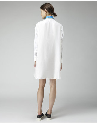 Tsumori Chisato contrast collar shirtdress