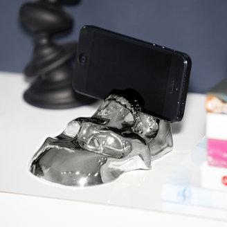 400oz Chrome Skull Tablet Holder Small