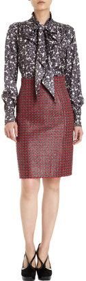 Marc Jacobs Tweed High Waist Skirt