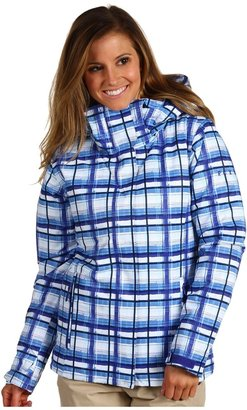 Roxy Willow 8K Insulated Snow Jacket (Plaid Moody Blue) - Apparel