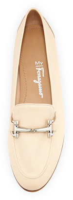 Salvatore Ferragamo My Informal Leather Gancini Loafer, Butter Beige