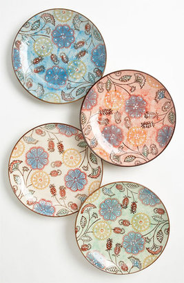 Couleur Nature Hand Painted Floral Plates (Set of 4)