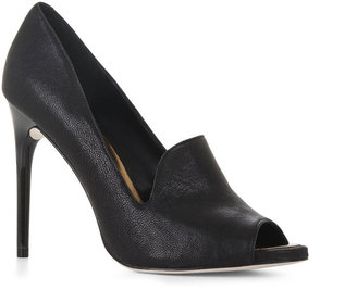 BCBGMAXAZRIA Peep-Toe Loafer Pump