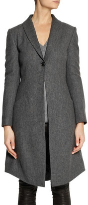 CAPITOL COUTURE BY TRISH SUMMERVILLE Faux fur-trimmed wool coat