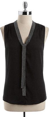 MICHAEL Michael Kors Sleeveless Embellished Blouse