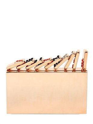 Domino Metal Rose Gold Plated Clutch
