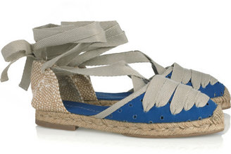 Stella McCartney Perforated canvas espadrille sandals