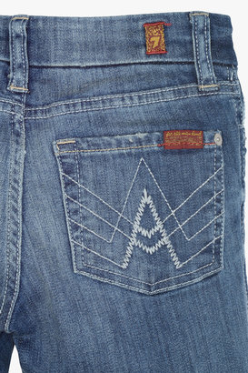 "7 For All Mankind Girls 7-14 ""A"" Pocket Flare In Heritage Light"