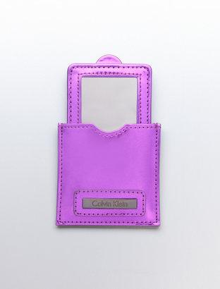 Calvin Klein Patent Travel Mirror