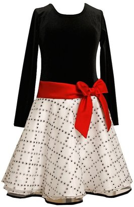 Bonnie Jean flocked dotted dress - girls 7-16