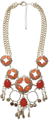 Arden B Multi Color Open Work Necklace