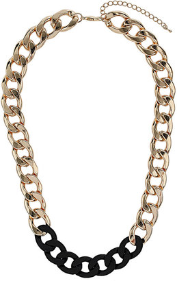 Topshop Gold And Black Chunky Chain