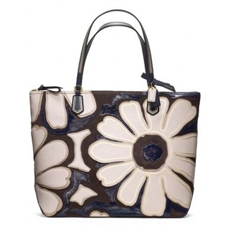 Coach Poppy Flower Tote In Elevated Leather