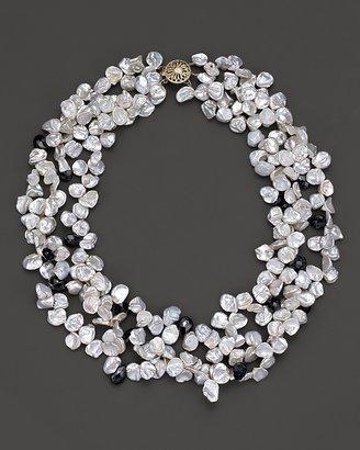 "Bloomingdale's Multi-row Fresh Water Pearl and Hematite Torsade Necklace, 18"""