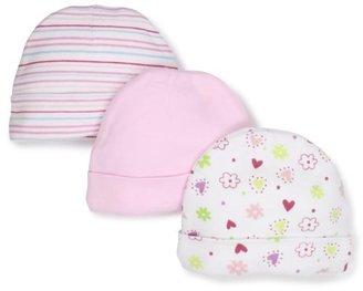 SpaSilk Baby-Girls Newborn 3 Pack Colorful Print Hat