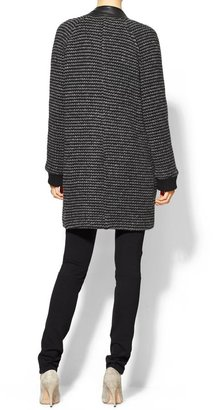 Derek Lam 10 Crosby Oversized Coat With Leather Trim