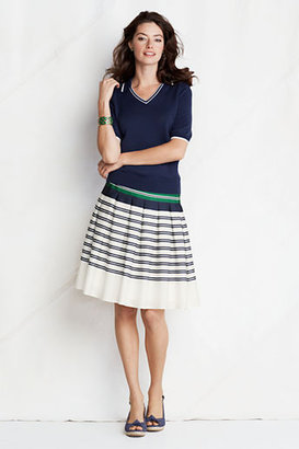 Lands' End Women's Petite Pleated Skirt