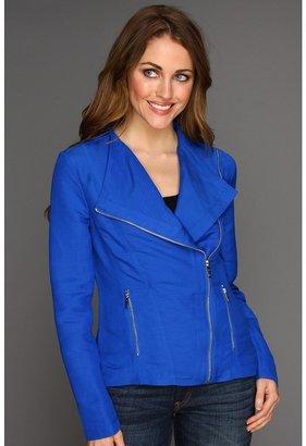 Calvin Klein Moto Jacket (Cobalt) - Apparel