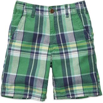 Osh Kosh Kids Shorts, Little Boys Plaid Twill Shorts