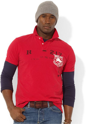 Polo Ralph Lauren Big and Tall Shirt, Classic-Fit Short-Sleeved Naval Air Station Mesh Polo