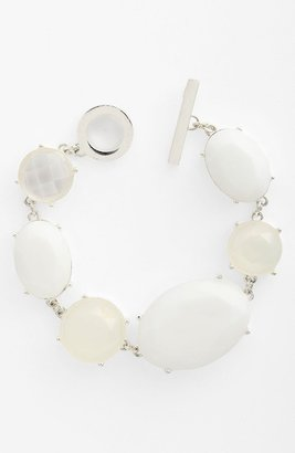 Anne Klein Toggle Bracelet White Multi/ Silver