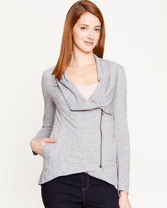 Le Château Knit Asymmetrical Zip Cardigan