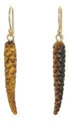 Annette Ferdinandsen Single Birch Tree Seed Earrings - Yellow Gold