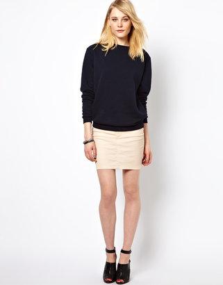 Vila Bright Denim Mini Skirt