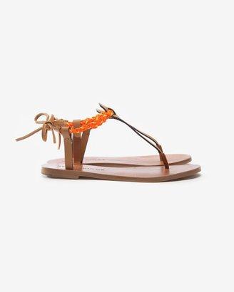 See by Chloe Braided Neon Thong Strap Sandal