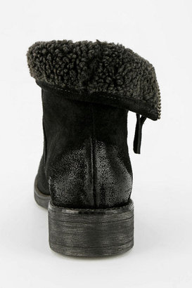 Urban Outfitters Ecote Fuzzy Fold-Over Ankle Boot