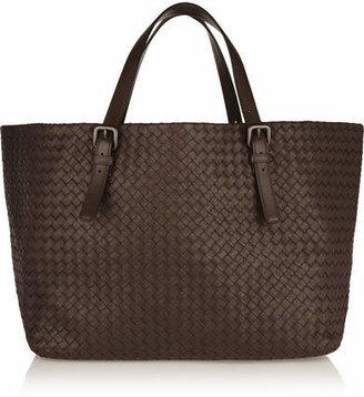 Bottega Veneta - Intrecciato Leather Tote - Dark brown $3,950 thestylecure.com