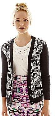 Nanette Lepore L'Amour Diamond Pattern Cardigan