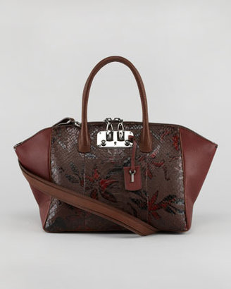 VBH Brera Python/Leather Satchel Bag