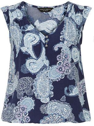 Dorothy Perkins Blue paisley print shell top