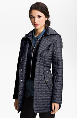 Laundry by Shelli Segal Quilted Coat with Hood Insert