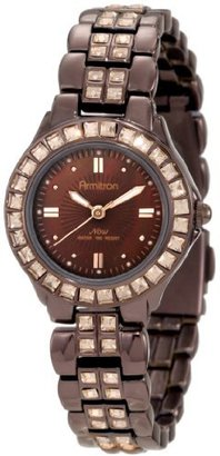 Armitron Women's 75/3689BMIB Swarovski Crystal Accented Brown Ion-Plated Bracelet Watch $90 thestylecure.com