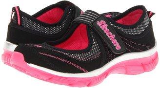 Skechers Lite Dreamz Sweet - 80571L (Little Kid/Big Kid) (Black) - Footwear