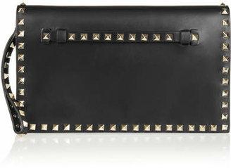 Valentino Garavani The Rockstud Leather Clutch - Black
