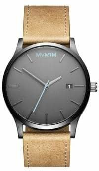 MVMT Classic Stainless Steel Leather-Strap Watch