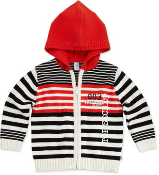 Petit Lem Smart Spy Striped Zip Hoodie, 3-24 Months