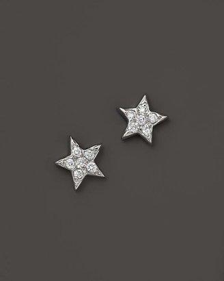 KC Designs Diamond Star Studs in 14K White Gold, .15 ct. t.w.